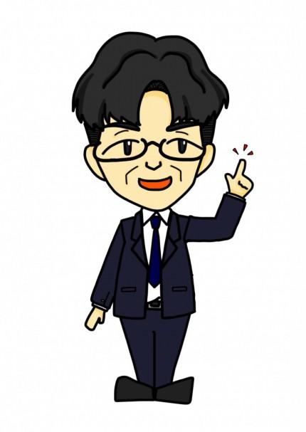 Satoshi Kotaka 似顔絵(指さし))