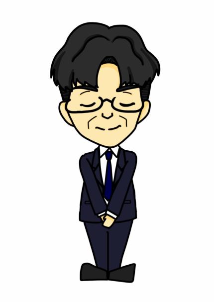 Satoshi Kotaka 似顔絵(手を前で組む)