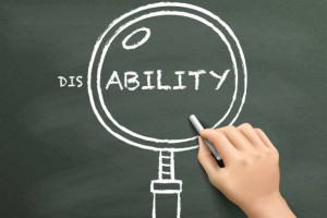 find out ability with magnifying glass drawn by hand over chalkboard